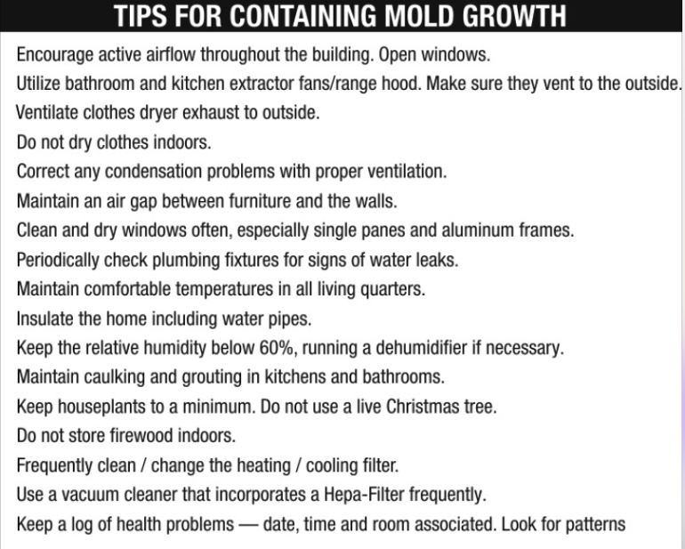 Tips for Containing Mold Growth